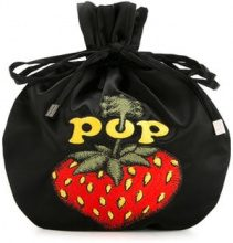 Hysteric Glamour - Borsa clutch 'Pop Berry' - women - Rayon - OS - BLACK
