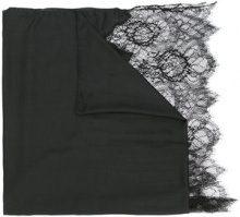 Valentino - Sciarpa con pizzo - women - Modal/Cashmere/Viscose/Polyamide - OS - BLACK