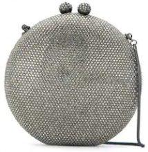 Isla - crystal embellished clutch bag - women - Glass Fiber/Velvet - OS - GREY