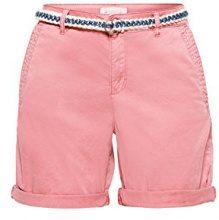 ESPRIT 048ee1c016, Pantaloncini Donna, Rosa (Blush 665), 40 (Taglia Produttore: 34)