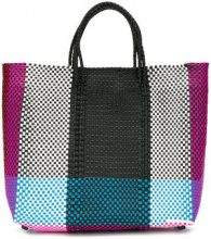 Truss Nyc - Borsa shopper color block - women - Polyethylene/Leather - OS - MULTICOLOUR