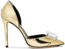 Marco De Vincenzo - Pumps con decorazioni con cristalli - women - Leather/Patent Leather - 35, 36, 37, 38, 38.5, 39, 40, 41 - Metallizzato