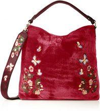SwankySwans Daria Velvet Reversible Bag - Borse a spalla Donna, Rosa (Pink), 12x24x24 cm (W x H x L)
