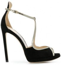 Jimmy Choo - Emily high heeled sandals - women - Leather/Suede - 36, 37, 37.5, 38, 38.5, 40, 39 - Nero
