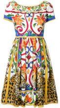 Dolce & Gabbana - Abito stampato 'Majolica' - women - Cotton - 42 - MULTICOLOUR