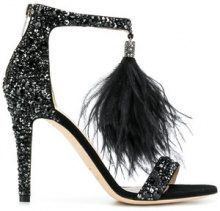 Jimmy Choo - Viola 100 pumps - women - Leather/Suede/Ostrich Feather - 35, 36, 37, 38, 39, 40, 37,5, 38,5 - Nero