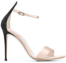 René Caovilla - Sandali con tacco a stiletto alto - women - Silk Satin/Leather - 37, 37.5, 38, 40, 41 - NUDE & NEUTRALS