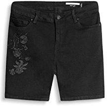 edc by Esprit 047cc1c003, Shorts Donna, Nero (Black Rinse), W30 (Taglia Produttore: 30)