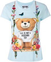 Moschino - T-shirt con stampa - women - Viscose/Polyamide - 40, 42, 44, 46 - BLUE