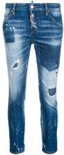 - Dsquared2 - Cool girl cropped jeans - women - fibra sintetica/cotone - 42 - di colore blu