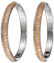 Esprit Collection - Orecchini a cerchio da donna con zirconia cubica, argento sterling 925, cod. ELCO90695B000