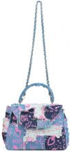Borsa doctor bag in denim patchwork