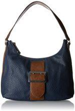 Tamaris Lee Hobo Bag - Borse a spalla Donna, Blau (Navy Comb), 12x28x32 cm (B x H T)