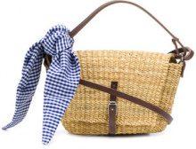 Muun - Borsa a tracolla 'Holly' - women - Straw/Calf Leather/Cotton - OS - NUDE & NEUTRALS