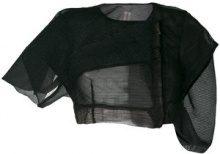 Rick Owens - Giacca 'Swan' - women - Polyamide/Silk - 44, 40, 42 - BLACK