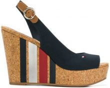 Tommy Hilfiger - Sandali con zeppa a righe - women - Cotton/rubber - 36, 37, 38, 39, 40, 41 - BLUE