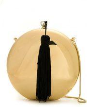 Isla - tassel detailing clutch bag - women - Velvet/metal - OS - YELLOW & ORANGE