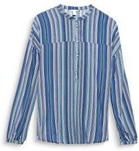 ESPRIT 028ee1f001, Camicia Donna, Multicolore (Navy 400), 40 (Talla Produttore: 36)