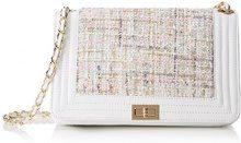 Chicca Borse 8634, Borsa a Spalla Donna, Bianco, 28x18x10 cm (W x H x L)