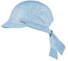 CaPO Linen Knot CAP, Berretti con Visiera Donna, Blau (Mid Blue 8), Medium