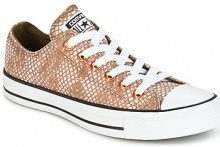 Scarpe Converse  CHUCK TAYLOR ALL STAR LUREX SNAKE OX LUREX SNAKE OX PALE PUTTY/M