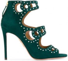 Aquazzura - Sandali 'Bakhi' - women - Suede/Leather - 35, 36, 37, 38, 40 - GREEN