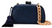 Serpui - straw clutch - women - Straw - OS - BLUE