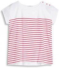 edc by Esprit 057cc1k019, T-Shirt Donna, Rosso (Orange Red), 36 (Taglia Produttore: Small)