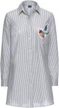 Camicia a righe con colibrì (Grigio) - BODYFLIRT