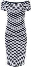 Michael Michael Kors - Vestito con stampa effetto ottico - women - Nylon/Spandex/Elastane/Viscose - L - BLUE