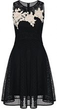 APART Fashion Glamour: Black Meets Champagner with Flowers & Lace, Vestito Donna, Mehrfarbig, 42
