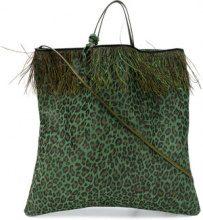 Danielapi - Borsa con stampa animalier - women - Leather - OS - GREEN