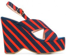 Essentiel Antwerp - Sandali a righe - women - Polyester/Leather/rubber - 36, 37, 39, 40 - BLUE