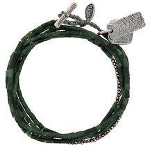 M. Cohen - Braccialetto con fili di perline - women - Silver - OS - GREEN