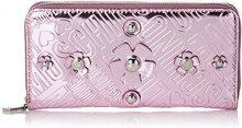Love Moschino Portafogli Embossed Tpu Rosa - Pochette da giorno Donna, (Pink), 3x10x20 cm (B x H T)