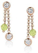 Nomination–Orecchini da donna Bella in argento 925, con zirconi Jade 1,3cm–142644/025