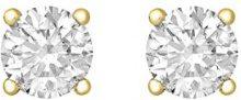 Tuscany Silver Orecchini a Lobo da Donna in Argento Sterling 925, Placcato con Oro Giallo, con Zirconio Cubico