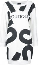 Boutique Moschino - Boutique print T-shirt dress - women - Cotton - 42 - WHITE