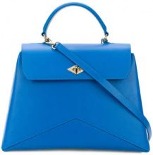 Ballantyne - geometric detail tote - women - Leather - OS - BLUE