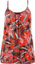 Top in maglina a fiori (Arancione) - bpc bonprix collection