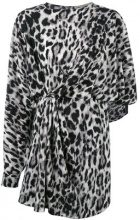 Saint Laurent - leopard print dress - women - Silk - 40, 46 - BLACK
