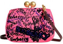 Burberry - Borsa clutch 'Doodle' - women - Cotton/Calf Leather - OS - PINK & PURPLE