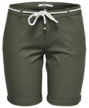 ONLY Solid Chino Shorts Women Green