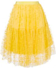 Si-Jay - Gonna midi in tulle - women - Polyamide - 38, 40, 42, 44 - YELLOW & ORANGE