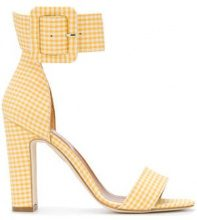 Paris Texas - Sandali con stampa gingham - women - Cotton/Calf Leather/Leather - 37, 37.5, 38, 39, 40 - YELLOW & ORANGE