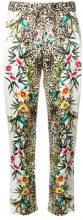 Liu Jo - Pantaloni 'Safari Flowers' - women - Polyester/Spandex/Elastane - 42 - MULTICOLOUR