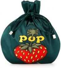Hysteric Glamour - Borsa clutch 'Pop Berry' - women - Rayon - OS - GREEN