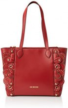 Love Moschino Borsa Vitello Smooth Rosso - Borse Tote Donna, (Red), 10x28x42 cm (B x H T)