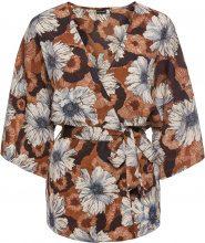 Giacca stile kimono con cintura (Marrone) - BODYFLIRT