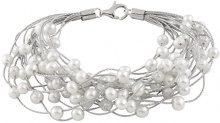 Bella Pearls Donna Rotonda Semisferica perla cinesa da coltivazione bianco Perla FINENECKLACEBRACELETANKLET